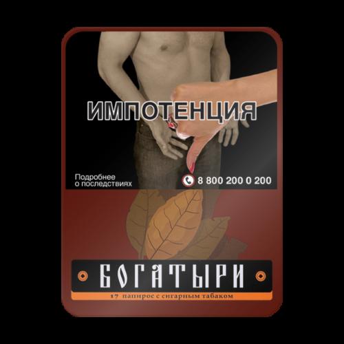 Папиросы Богатыри с сигарным табачком (портсигар 17 шт.)
