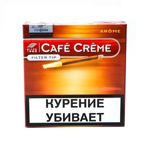 Сигариллы Cafe Creme Arome Filter Tip - картонная пачка
