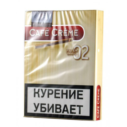 Сигариллы Cafe Creme Filter Vanilla № 02