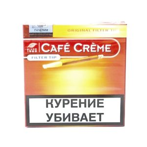Сигариллы Cafe Creme Original Filter Tip - картонная пачка