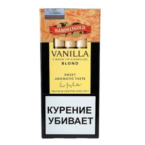 Сигариллы Handelsgold Vanilla Wood Tip Blond