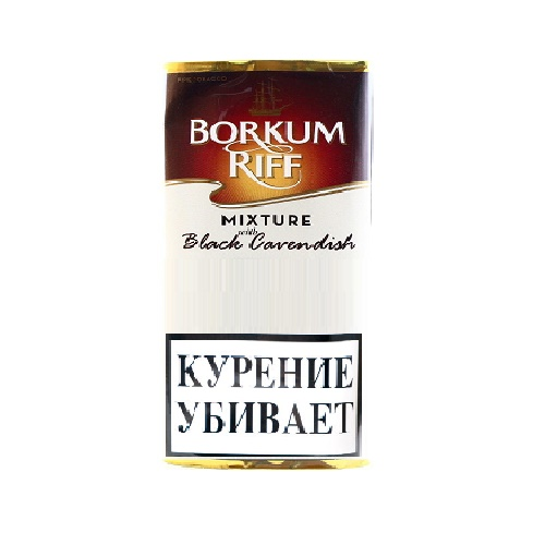 Табак для трубки Borkum Riff Mixture with Black Cavendish - 40 гр
