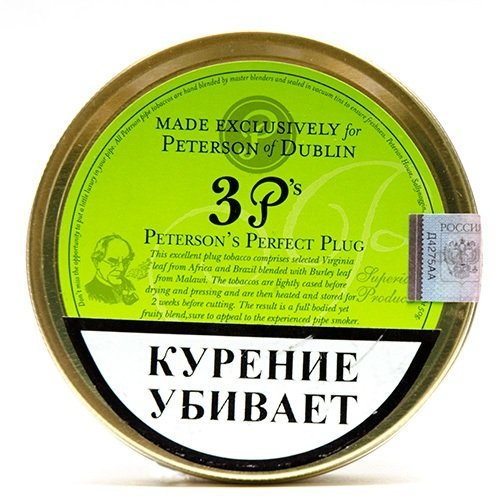 Табак для трубки Peterson - Perfect Plug - 50 гр