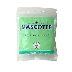 Фильтры для самокруток 6мм Mascotte Slim Mentol 120 шт (в пакете)