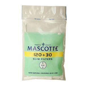 Фильтры для самокруток 6мм Mascotte Slim в ПАКЕТЕ 120+30 шт