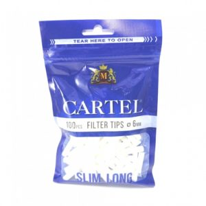 Фильтры для самокруток Cartel Slim Long 6мм 100 шт.