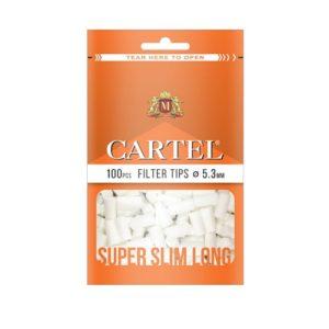 Фильтры для самокруток Cartel Super Slim Long 5,3 мм 100 шт.
