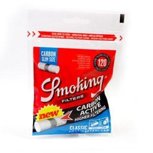 Фильтры для самокруток Smoking Slim Carbon 120 шт.