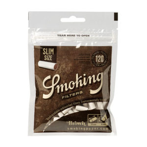 Фильтры для самокруток Smoking Slim Size Brown 120 шт.