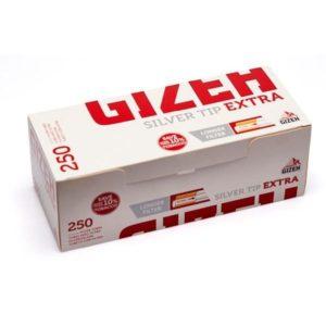 Гильзы для сигарет Gizeh Silver Tip Extra 250 штук
