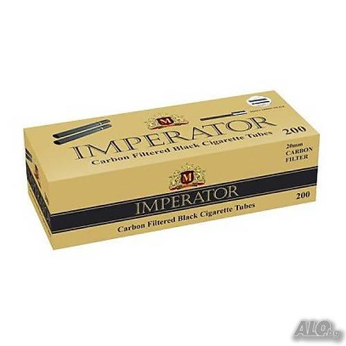 Гильзы для сигарет Imperator Black Carbon - угольные 100 штук