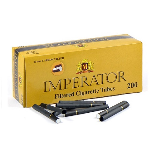 Гильзы для сигарет Imperator Black Carbon - угольные 200 шт.