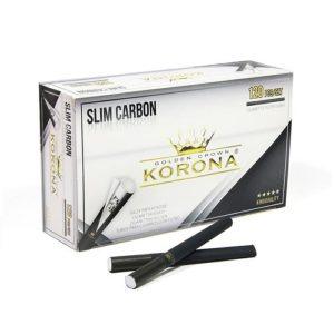 Гильзы для сигарет Korona Slim Carbon - 120 шт.