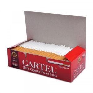 Сигаретные гильзы Cartel Long 25 мм Filter 200 штук