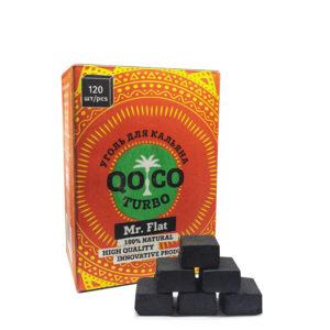 Уголь кокосовый Qoco Turbo FLAT 120 шт.